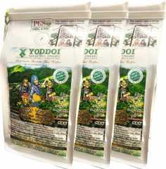 กาแฟออแกนิค Yoddoi Organic Coffee (คั่วอ่อนผสมคั่วเข้ม ชนิดเมล็ด) 3 แพ็ค