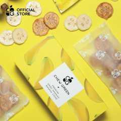 กล้วยน้ำว้าออร์แกนิคอบแห้ง 100% หวานธรรมชาติ ไม่มีน้ำตาล (120 กรัม)