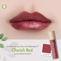 Ira Moisture Lock Lip Gloss with Enfleurage Oil: Cherish Red