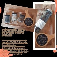 งาดิบกินเล่น Raw Sesame Seeds Snack 200 มล.